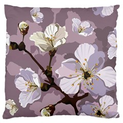 Peach Blossom Seamless Pattern Vector Large Flano Cushion Case (two Sides) by Sobalvarro