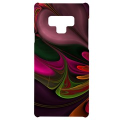 Fractal Abstract Colorful Floral Samsung Note 9 Black Uv Print Case