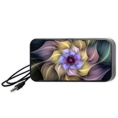 Fractal Flower Petals Colorful Portable Speaker