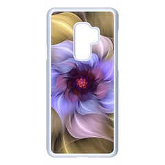 Fractal Flower Petals Colorful Samsung Galaxy S9 Plus Seamless Case(white) by Pakrebo