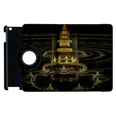 Fractal City Geometry Lights Night Apple Ipad 2 Flip 360 Case