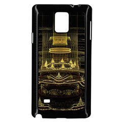 Fractal City Geometry Lights Night Samsung Galaxy Note 4 Case (black)