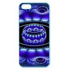 Fractal Blue Sphere 3d Pattern Apple Seamless Iphone 5 Case (color)