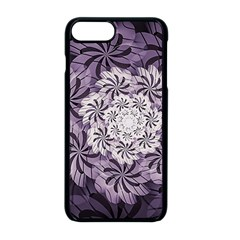 Fractal Floral Striped Lavender Iphone 8 Plus Seamless Case (black)