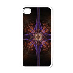 Fractal Cross Blue Geometric Iphone 4 Case (white) by Pakrebo