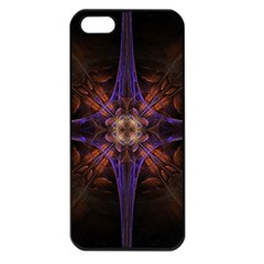 Fractal Cross Blue Geometric Iphone 5 Seamless Case (black) by Pakrebo