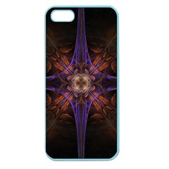 Fractal Cross Blue Geometric Apple Seamless Iphone 5 Case (color) by Pakrebo