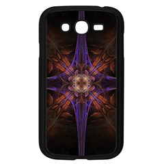 Fractal Cross Blue Geometric Samsung Galaxy Grand Duos I9082 Case (black) by Pakrebo