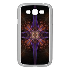 Fractal Cross Blue Geometric Samsung Galaxy Grand Duos I9082 Case (white) by Pakrebo