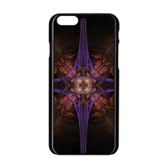 Fractal Cross Blue Geometric Iphone 6/6s Black Enamel Case by Pakrebo