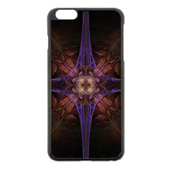 Fractal Cross Blue Geometric Iphone 6 Plus/6s Plus Black Enamel Case by Pakrebo
