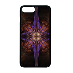 Fractal Cross Blue Geometric Iphone 7 Plus Seamless Case (black) by Pakrebo
