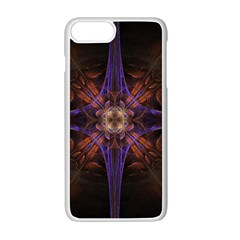 Fractal Cross Blue Geometric Iphone 7 Plus Seamless Case (white) by Pakrebo