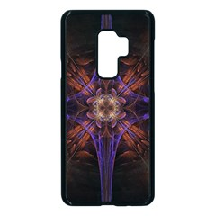 Fractal Cross Blue Geometric Samsung Galaxy S9 Plus Seamless Case(black) by Pakrebo