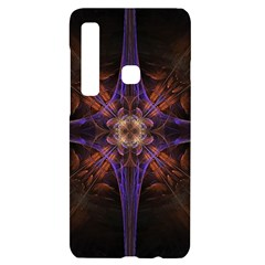 Fractal Cross Blue Geometric Samsung Case Others by Pakrebo