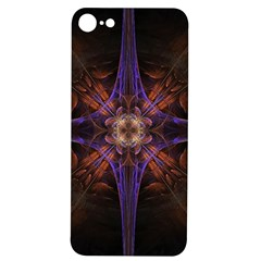 Fractal Cross Blue Geometric Iphone 7/8 Soft Bumper Uv Case by Pakrebo