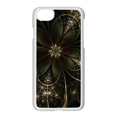 Fractal Gold Green Flower Bloom Iphone 7 Seamless Case (white)