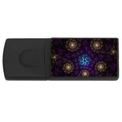 Geometry Fractal Colorful Geometric Rectangular Usb Flash Drive