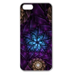 Geometry Fractal Colorful Geometric Apple Seamless Iphone 5 Case (clear)