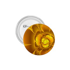 Fractal Yellow Flower Floral 1 75  Buttons