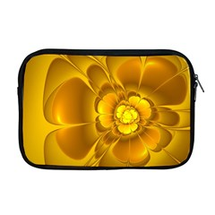 Fractal Yellow Flower Floral Apple Macbook Pro 17  Zipper Case