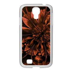 Fractal Painting Flower Texture Samsung Galaxy S4 I9500/ I9505 Case (white)