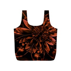 Fractal Painting Flower Texture Full Print Recycle Bag (s) by Pakrebo