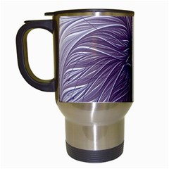 Purple Lavender Wisps White Travel Mugs (white)