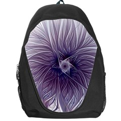 Purple Lavender Wisps White Backpack Bag by Pakrebo