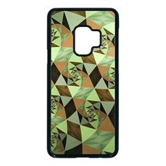 Fractal Mosaic Abstract Fractal Art Samsung Galaxy S9 Seamless Case(black)