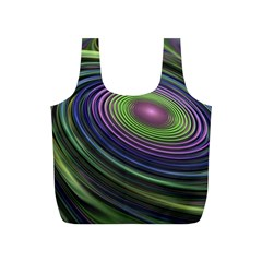 Fractal Pastel Fantasy Colorful Full Print Recycle Bag (s) by Pakrebo