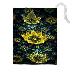 Fractal Undersea Flowers Abstract Drawstring Pouch (xxxl)