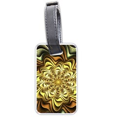 Fractal Flower Petals Gold Luggage Tag (one Side)
