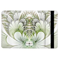 Fractal Delicate White Background Ipad Air 2 Flip