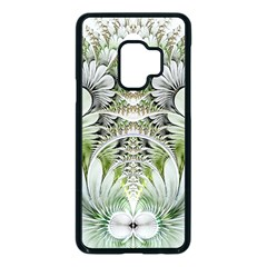 Fractal Delicate White Background Samsung Galaxy S9 Seamless Case(black)
