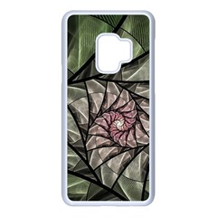 Fractal Flowers Floral Fractal Art Samsung Galaxy S9 Seamless Case(white) by Pakrebo