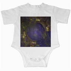 Fractal Earth Rays Design Planet Infant Creepers