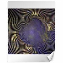 Fractal Earth Rays Design Planet Canvas 12  X 16