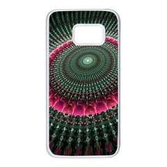 Fractal Circle Fantasy Texture Samsung Galaxy S7 White Seamless Case