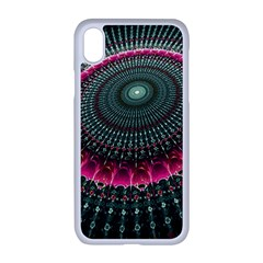 Fractal Circle Fantasy Texture Iphone Xr Seamless Case (white) by Pakrebo