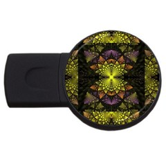 Fractal Multi Color Geometry Usb Flash Drive Round (4 Gb)