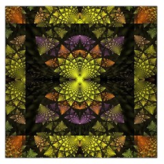 Fractal Multi Color Geometry Large Satin Scarf (square)