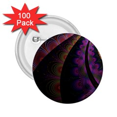 Fractal Colorful Pattern Spiral 2 25  Buttons (100 Pack)