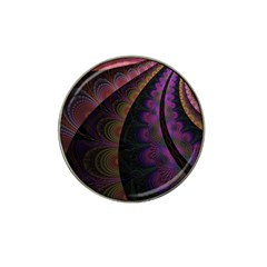 Fractal Colorful Pattern Spiral Hat Clip Ball Marker (4 Pack)