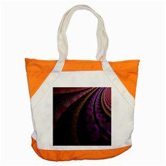 Fractal Colorful Pattern Spiral Accent Tote Bag