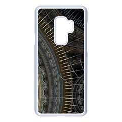 Fractal Spikes Gears Abstract Samsung Galaxy S9 Plus Seamless Case(white) by Pakrebo