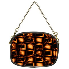 Bubbles Background Abstract Brown Chain Purse (two Sides) by Pakrebo