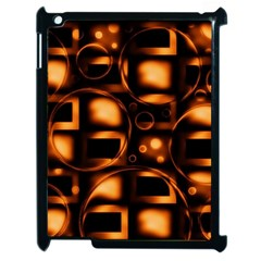 Bubbles Background Abstract Brown Apple Ipad 2 Case (black)