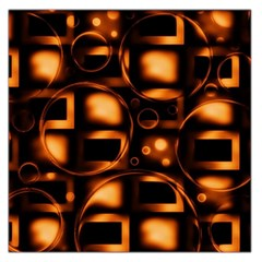 Bubbles Background Abstract Brown Large Satin Scarf (square)