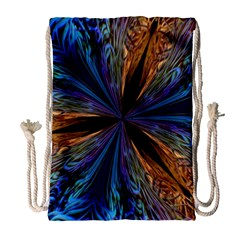 Abstract Background Kaleidoscope Drawstring Bag (large)